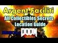 Doom 2016 Argent Faciliti All Collectibles Secrets Locations Guide Praetor Suit,Unlock Classic Map