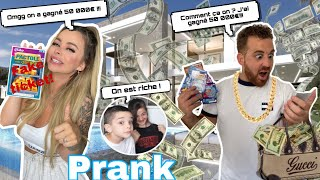 DOUBLE PRANK ! MON CHÉRI ET MES ENFANTS GAGNENT  50 000€ AUX JEUX !(IL REFUSE DE PARTAGER )