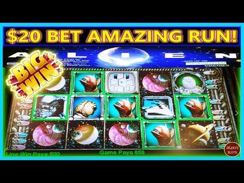 AMAZING RUN ON HIGH LIMIT ALIEN $20 BET | TURNING $600 FREE PLAY INTO PROFIT |