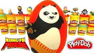 Ovo Surpresa Gigante do Kung Fu Panda em Português Brasil de Massinha Play Doh