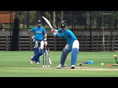 2015 World Cup: Dhoni, Virat practice hitting sixes