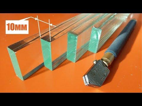 Как правильно резать толстое стекло How To Cut A Thick Glass