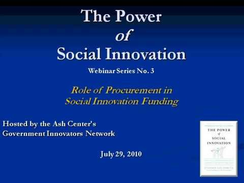 The Role of Procurement in Social Innovation Funding