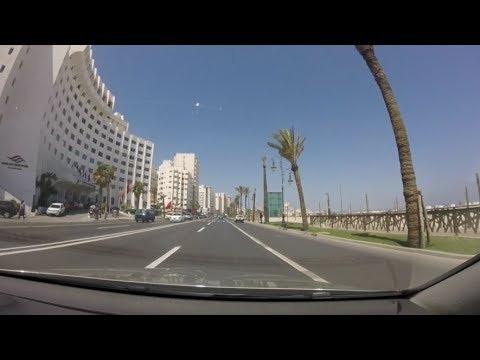 [Driving in Morocco] Avenue Mohammed VI , Tanger (Corniche)