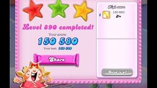 Candy Crush Saga Level 890     ★★★   NO BOOSTER