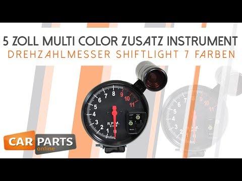 ✖️5 Zoll Multi Color ✖️ Zusatz Instrument ✖️Drehzahlmesser✖️Artikel-Nr. 26476✖️