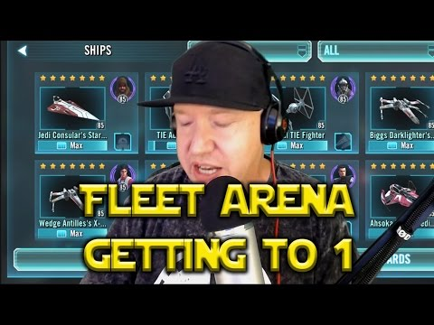 Star Wars: Galaxy Of Heroes - Fleet Arena SHIPS Getting To #1