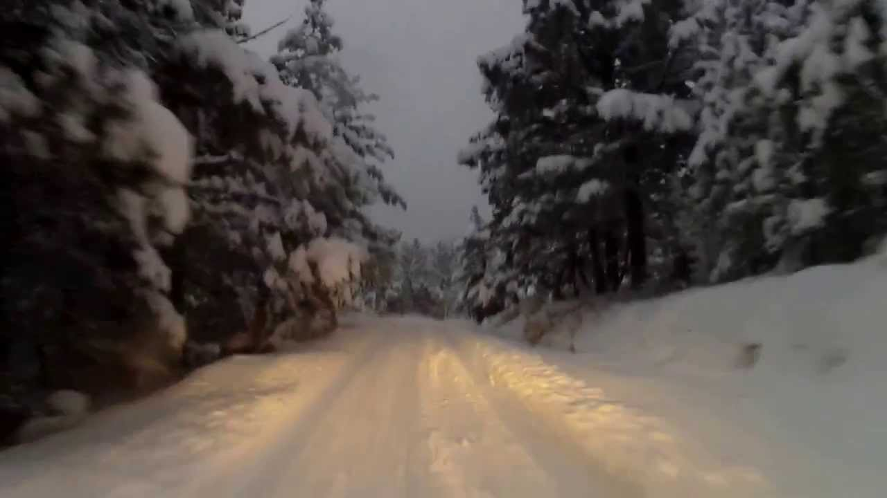 Forester Night Drive In Deep Snow Youtube