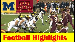 Michigan vs Minnesota Football Game Highlights 10 24 2020