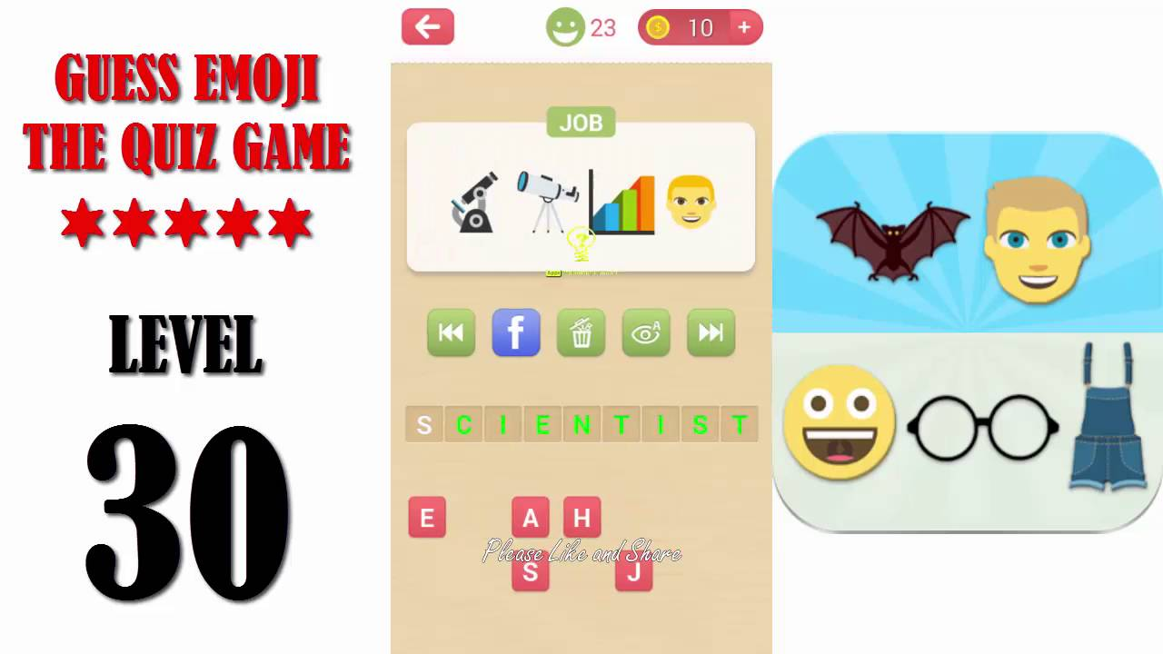 Guess Emoji The Quiz Game Level 30 - All Answers ...