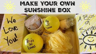 SUNSHINE CARE PACKAGE :: BRIGHTEN SOMEONES DAY :: TARGET & DOLLAR TREE ITEMS
