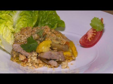 recette-:-crumble-de-légumes-d'été-et-filet-mignon-de-porc