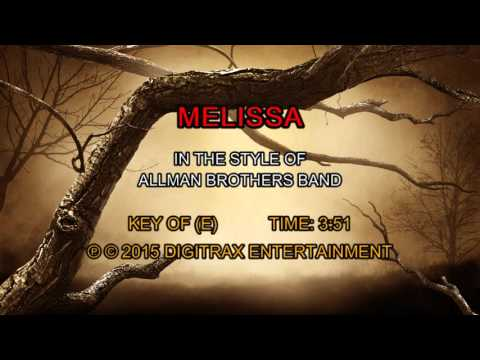 Allman Brothers Band - Melissa (Backing Track)