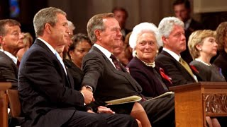 Bush father and son share moment in one of America's darkest hours