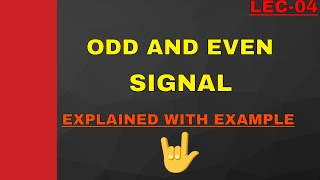 Odd and even signal in Hindi.