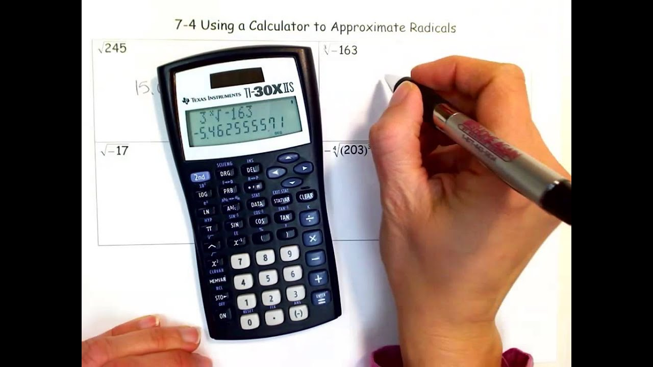 Using a Calculator to Approximate Radicals YouTube – Simplest Radical Form Worksheet