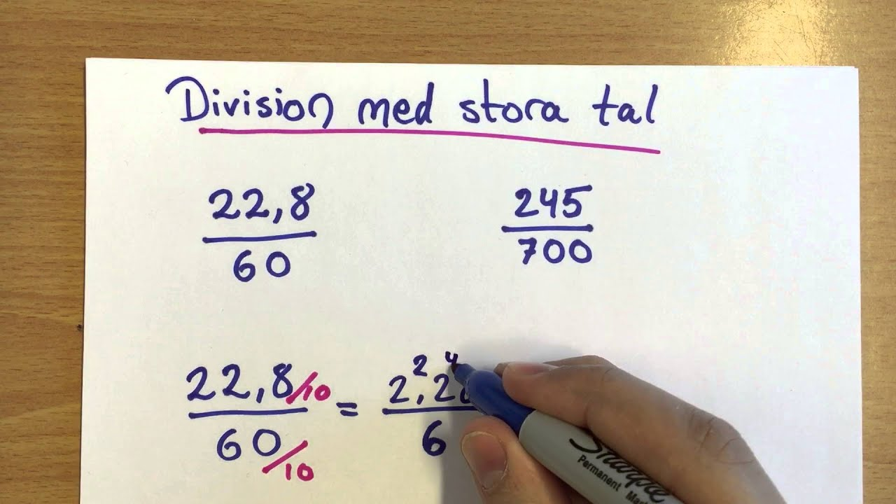 Division Med Stora Tal Youtube