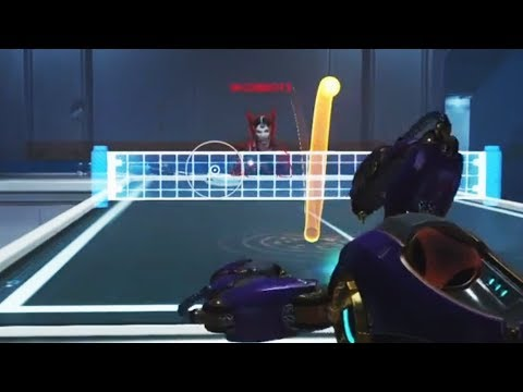 Symmetras Play Ping-Pong - Overwatch Funny Moments 42