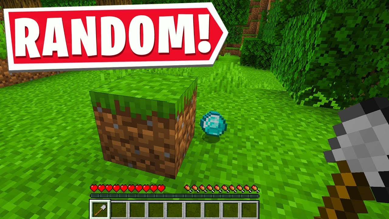 MINECRAFT BUT EVERY DROP IS RANDOM YouTube