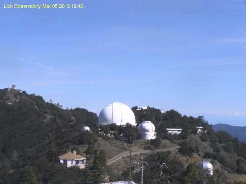 Mount Hamilton Weather Cam Time Lapse Of Chemtrails