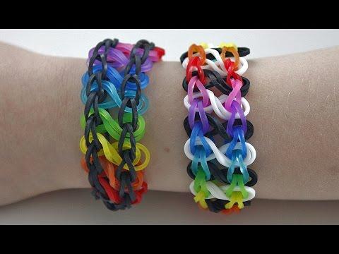 tuto bracelet lastique infini arc en ciel rainbow loom en fran ais youtube. Black Bedroom Furniture Sets. Home Design Ideas