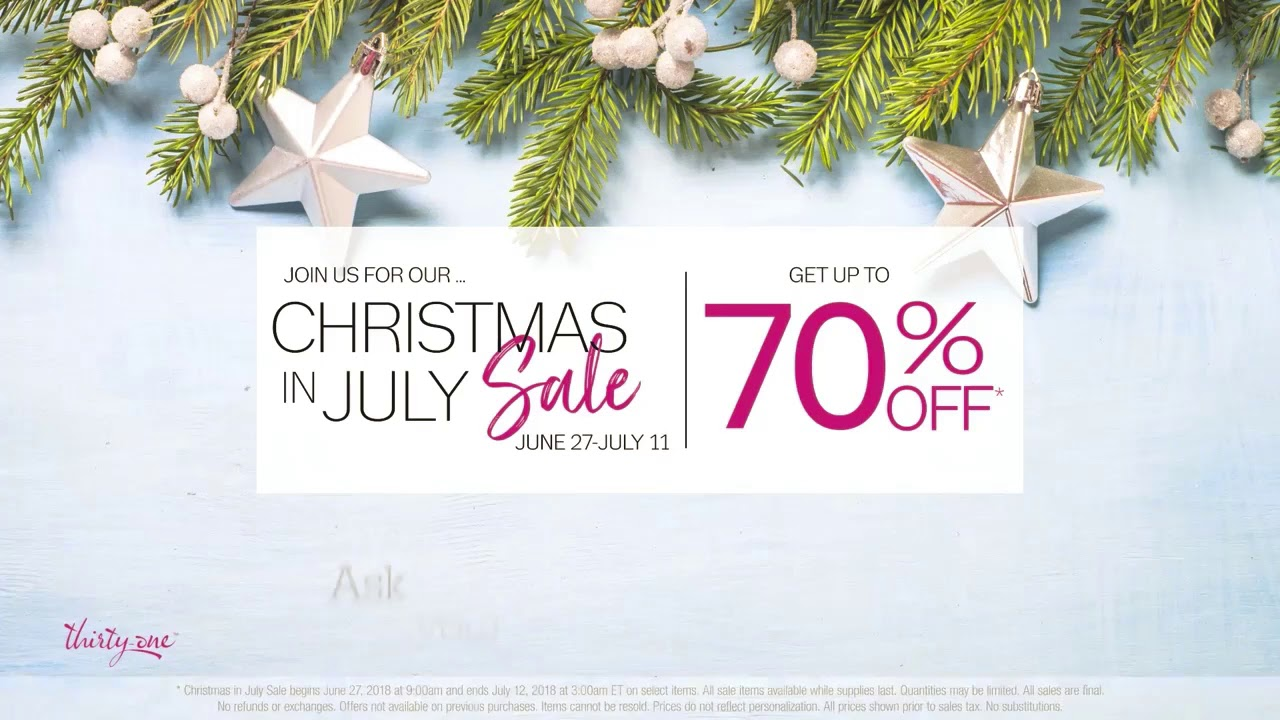 31 bags christmas in july sale