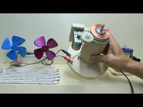 24V DC generator motor with propeller thrust