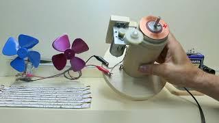 Small 24V DC generator motor with propeller thrust