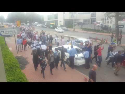 The #ZumaMustFall march through Sandton