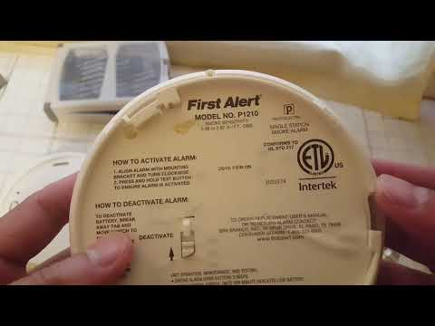 First Alert smoke alarm P1210 - 10 year battery Review
