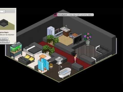 Habbo como fazer um pequena casa moderna youtube for Casas en habbo