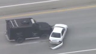 Fort Worth, Texas police car chase takedown and arrest