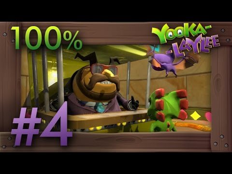 Yooka-Laylee 100% Walkthrough Part 4 - World 4 Capital Cashino #1 (All Quills, Pagies & Secrets)