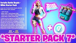 *NEW* SO you get the STARTER PACK 7! 😱 (this is how it works) | Fortnite Starter Pack 7 Wild Skin