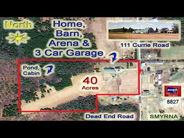 Video Farms For Sale In Maine | 111 Currie RD Smyrna ME MOOERS REALTY #8827
