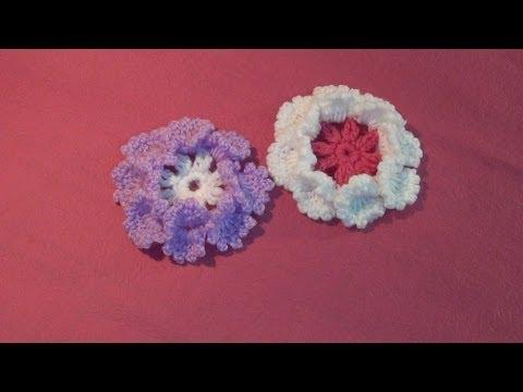 Hướng dẫn móc hoa len - Móc hoa cúc 8 cánh (Subtitles English)