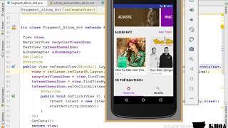 Bài 48: Thiết kế giao diện màn hình album
