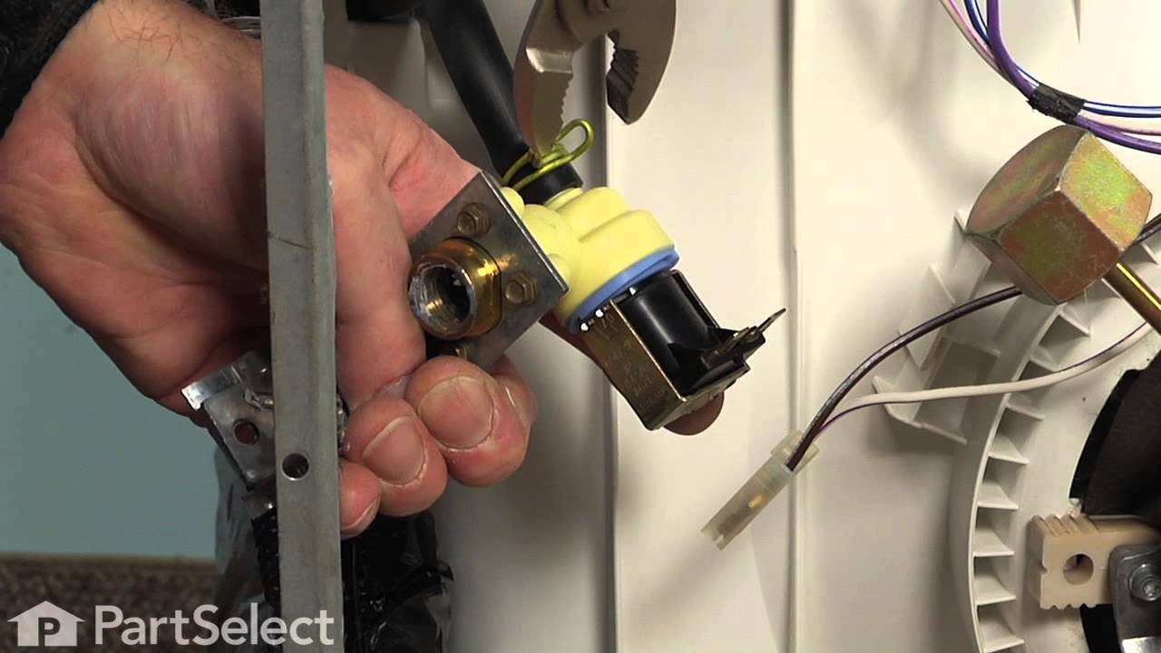 hight resolution of dishwasher replacing the water inlet valve whirlpool part 3384890