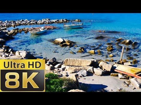 8K FUHD (full ultra HD) (7680×4320) Sardinia Paradise Beach   Blue Sea