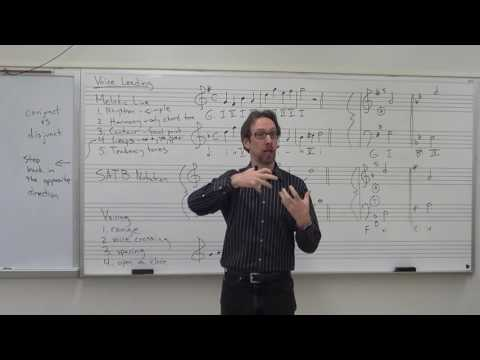Dr B Music Theory Lesson 11 Voice Leading 101
