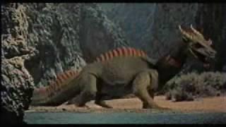 Le 7ème Voyage De Sinbad(1958)-cyclop vs dragon- Harryhausen