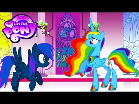 my little pony transforms - color swap rainbow dash princess luna - mlp coloring videos for kids