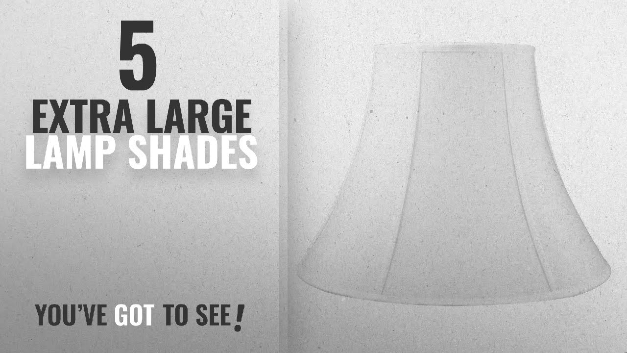Top 10 Extra Large Lamp Shades [2018 ]: 10x20x15 White Bell Shantung Shade  With Brass Spider Fitter