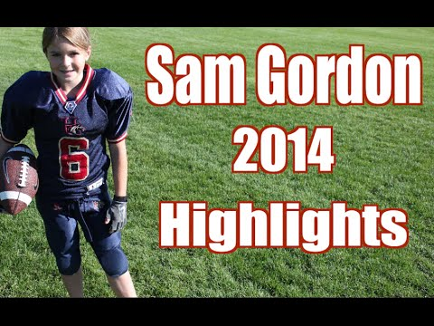 Unbelievable Girl Football Player Highlights!!! Sam Gordon 2014