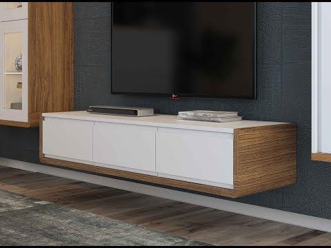 Навесная ТВ-тумба - новинка в мебели. Тренд 2019 года.
