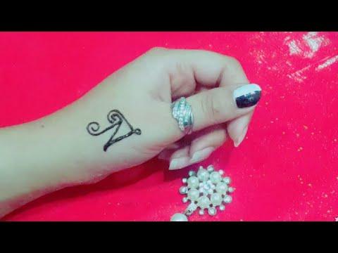 Beautiful N Letter Mehndi Tattoo| Easy N Letter Mehndi Tattoo|Alphabet Mehndi Tattoo| Tattoos Tricks