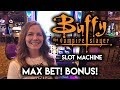 FIRST TRY on BUFFY the Vampire Slayer! Slot Machine in Las Vegas! Max Bet BONUS!