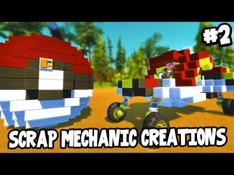 Scrap Mechanic CREATIONS! - POKEBALL TRANSFORMER! [#2] W/AshDubh   Gameplay  