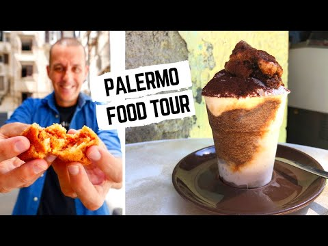 SICILY FOOD TOUR   Street Food In Italy   Palermo Street Food And Traditional SICILIAN Food