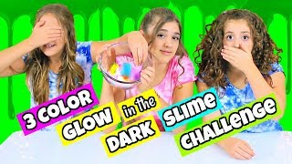 3 Color Slime Challenge with Glow In The Dark Pigments!
